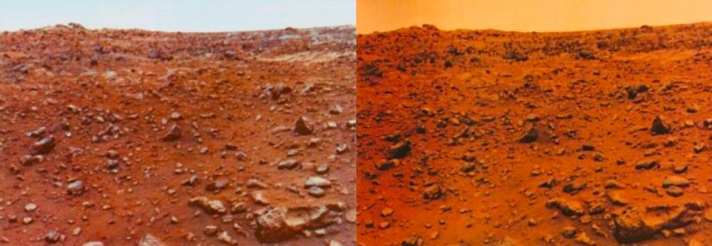 火星の空はやはり青かった